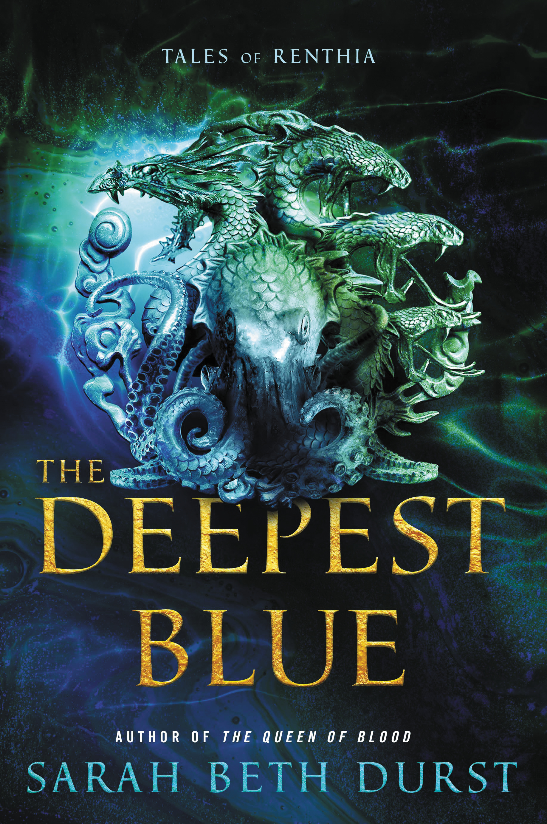 Sarah Beth Durst on the cover for The Deepest Blue